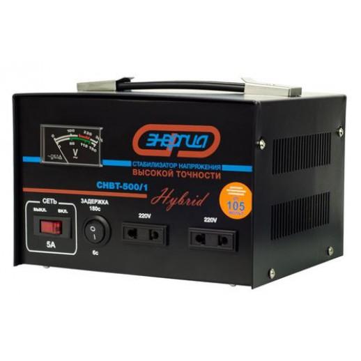 Фото - Однофазный стабилизатор напряжения Энергия Нybrid CНВТ-500/1