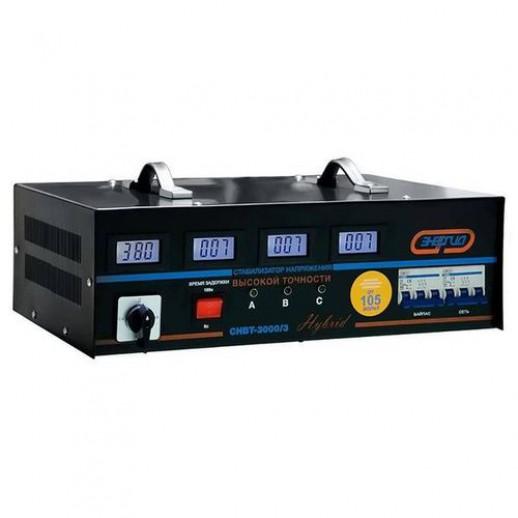 Фото - Трехфазный стабилизатор напряжения Энергия Нybrid CНВТ-3000/3