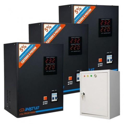 Фото - Трехфазный стабилизатор напряжения Энергия Voltron 30000 HP