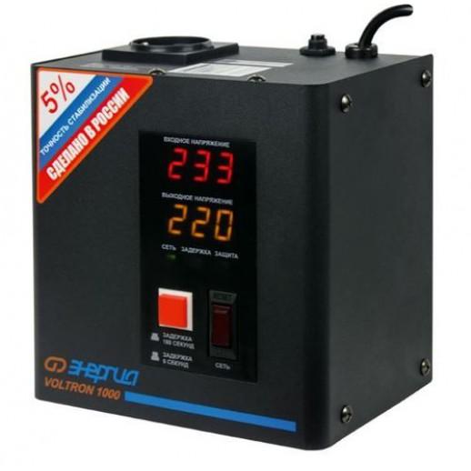 Фото - Однофазный стабилизатор напряжения Энергия Voltron 1000 (HP)