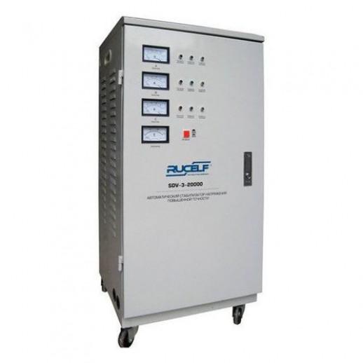 Фото - Трехфазный стабилизатор напряжения Rucelf SDV-3-20000