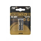 Аккумулятор ROBITON JAPAN HR-4UTG 750мАч BL2 15189