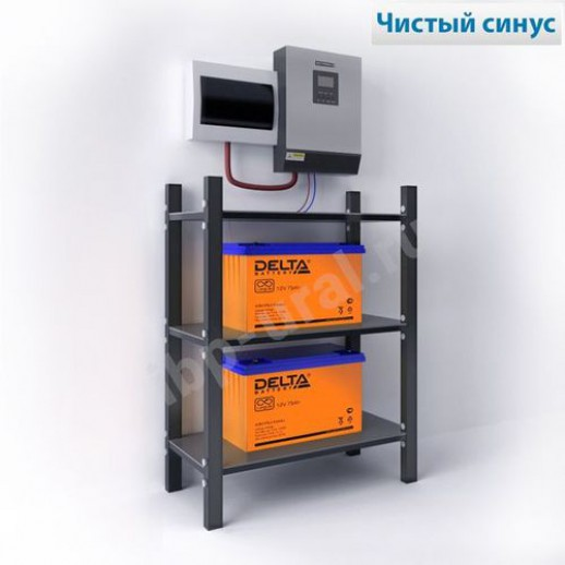 Фото - Система резервирования StarkINV+Delta 1600Вт/2х150А*ч